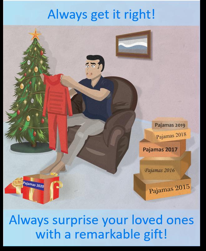 Man who receives pajamas again as a Christmas present
